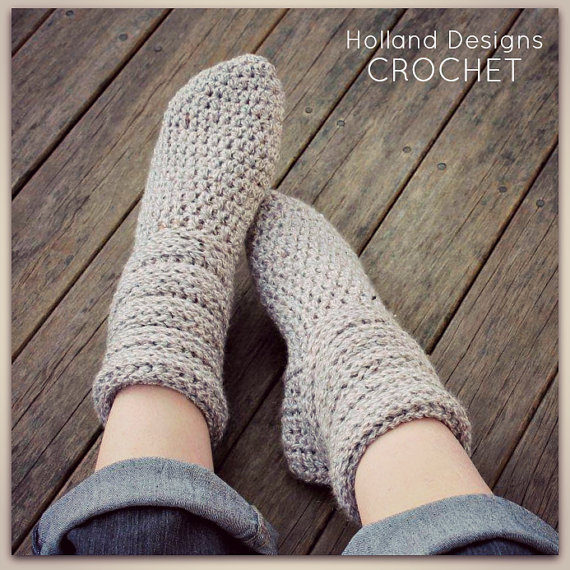 Slouchy Socks Adult Woman Etsy