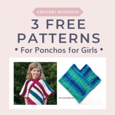 3 Free Patterns for Ponchos for Girls. Free Crochet Tutorials FB