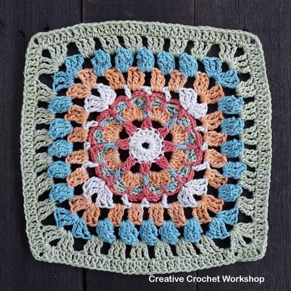 Stardelic Crochet Square Tutorial