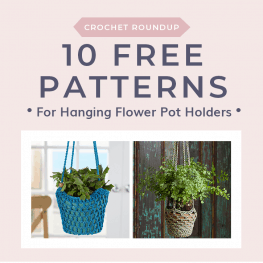 10 Free Patterns for Hanging Flower Pot Holders. Free Crochet Tutorials PIN