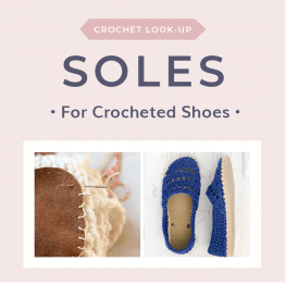 Soles for Crocheted Shoes