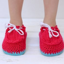 Toddler Crochet Boat Shoes Using Flip Flops