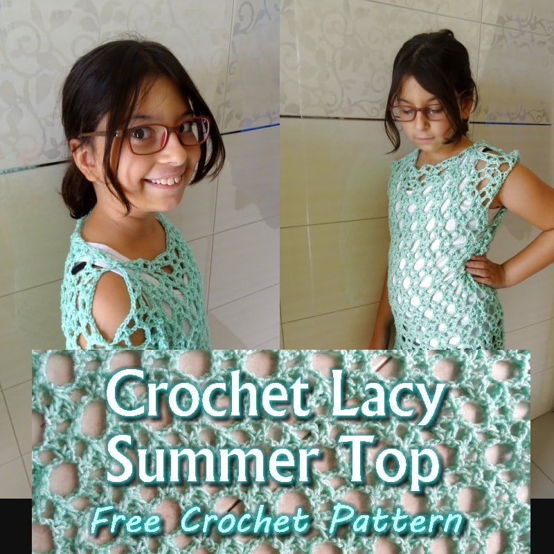 Crochet Lacy Summer Top Pattern and Tutorial
