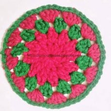 Christmas Themed Coasters Pattern and Tutorial