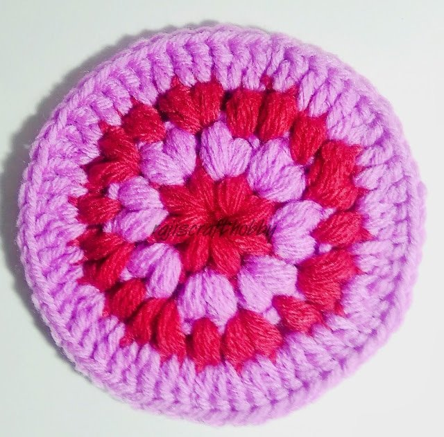 Puff Stitch Coaster Pattern and Tutorial