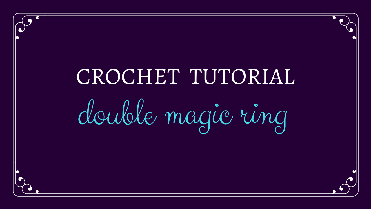 Double Magic Ring Tutorial from Oombawka Design Crochet