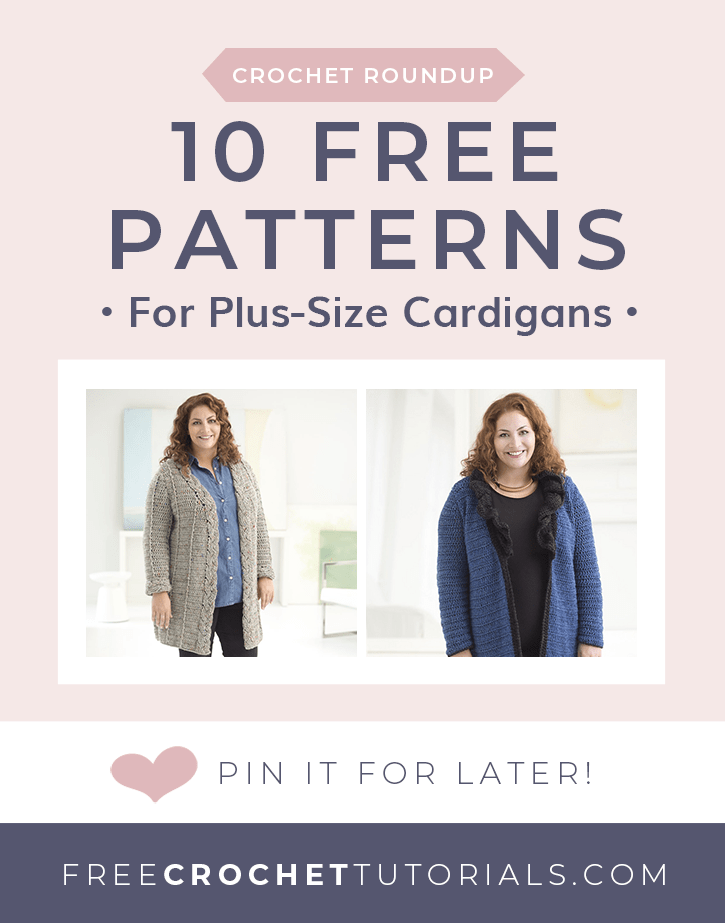 10 Free Patterns for Plus Size Cardigans Sizes 2X 3X 4X or 5X