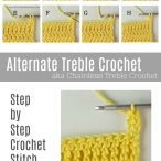 Alternate Treble Crochet Photo Tutorial