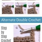 Alternate Double Crochet Tutorial