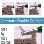 Alternate Double Crochet Tutorial