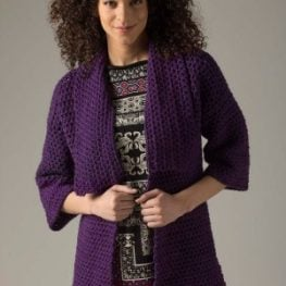 Level 1 Crocheted Cardigan from Lion Brand Yarns