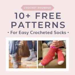 10 Easy Free Crochet Sock Patterns
