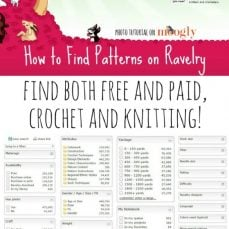 How to find patterns on Ravelry photo tutorial