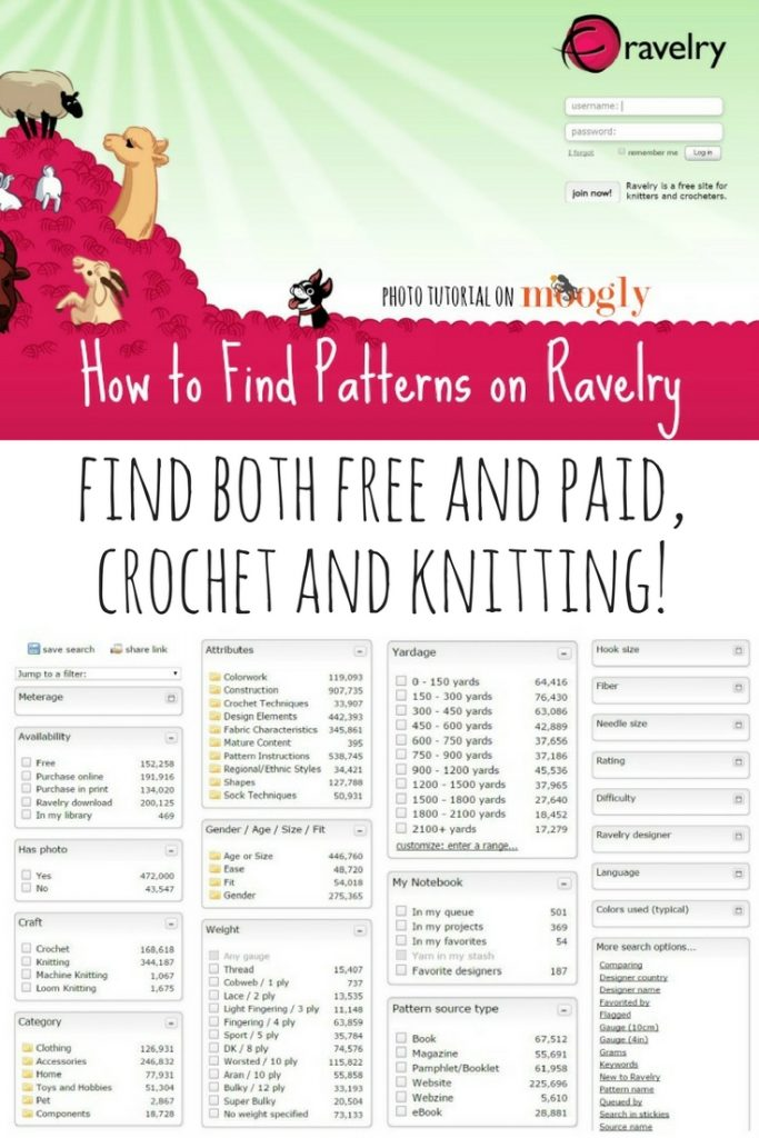 Learn how to navigate and find patterns on Ravelry with this helpful photo tutorial.