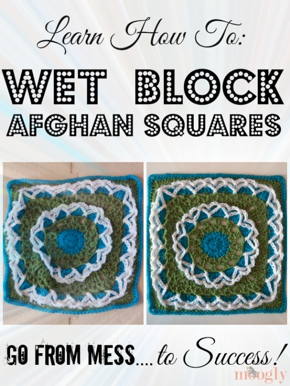 How to Wet Block Afghan Squares