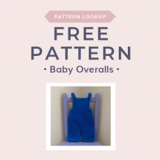Free Crochet Pattern for Baby Overalls