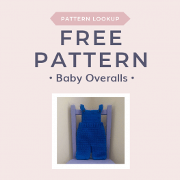 Pattern Lookup Baby Overalls Free Crochet Tutorials