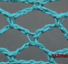 Diamond Mesh Crochet Stitch