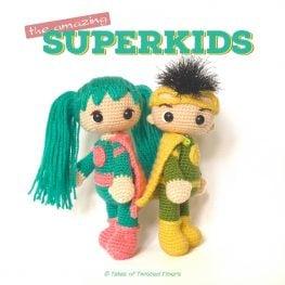 SuperKids by Tales of Twisted Fibers_free superhero amigurumi pa