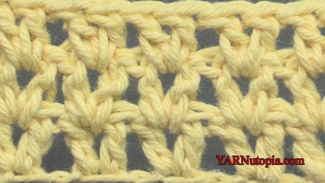 Learn how to crochet the V-Stitch with this great video tutorial. #crochettutorial #videotutorial