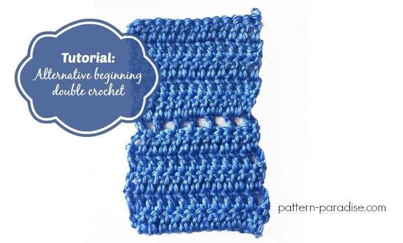 How to crochet the alternative beginning double crochet