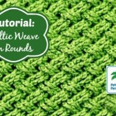 How to Crochet the Celtic Weave Stitch in the Round