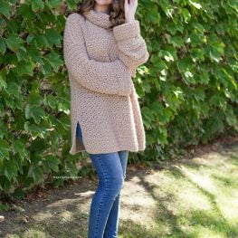 Fallow Fawn Roll Neck Sweater by Olivia Kent