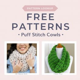 Free Patterns for Puff Stitch Cowls FCT