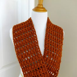 Ginger Snap Infinity Scarf by Fiber Flux / Jennifer Dickerson