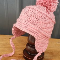 La Vie en Rose Earflap Hat Photo Tutorial