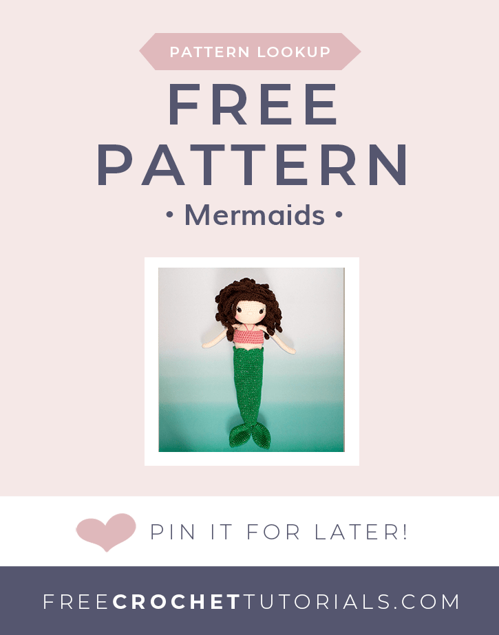 Pattern Lookup Mermaid Crochet Patterns - Free Crochet Tutorials