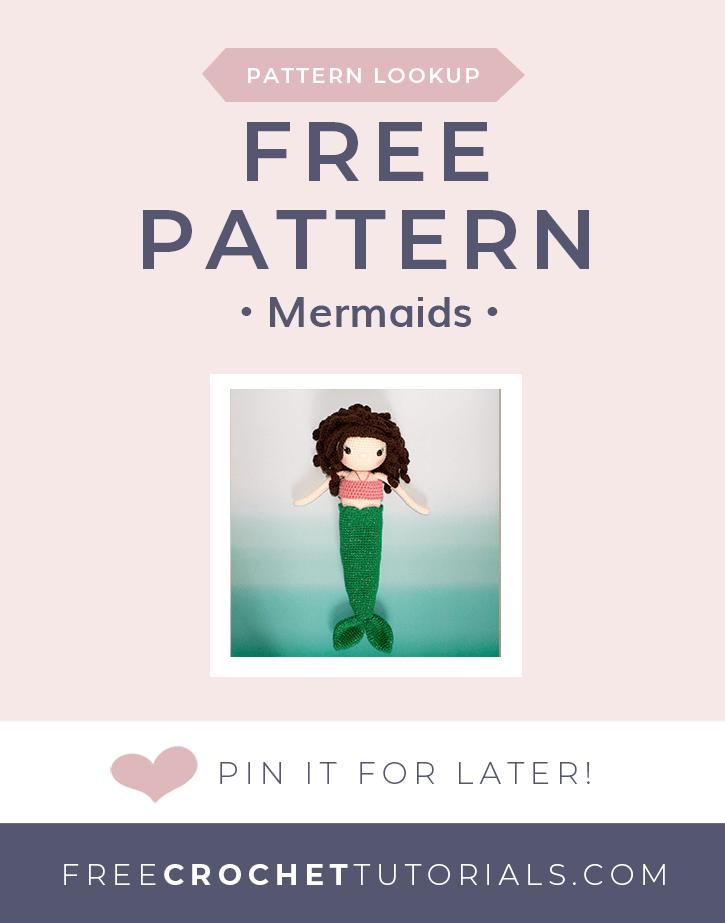 Pattern Lookup Mermaid Crochet Patterns - Free Crochet Tutorials