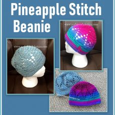 Pineapple Stitch Beanie Pattern Tutorial