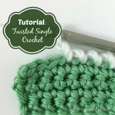 How to Crochet the Twisted SC Tutorial