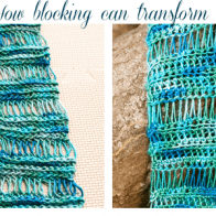 How to Block Crochet Project Photo Tutorial