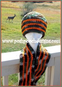 Camo and Orange Hunting Beanie Video Tutorial