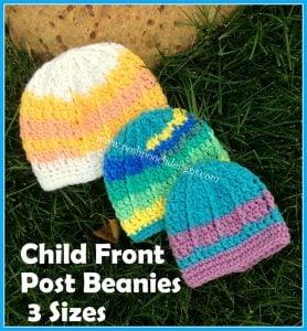 Children's Front Post Beanie Tutorial