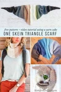Crochet Triangle Scarf Video Tutorial