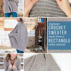 Easy Beginner Crochet Sweater Video Tutorial