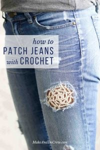 How to Patch Jeans with Crochet Video Tutorial