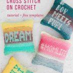 How to Cross Stitch on Crochet Tutorial