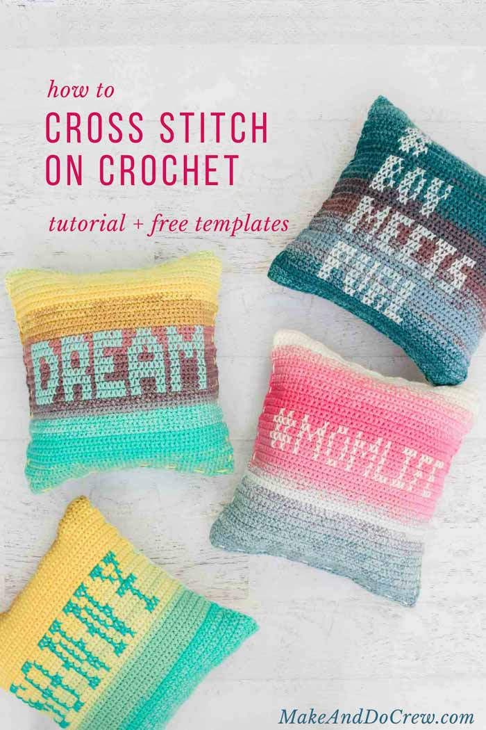 Learn how to add cross stitches to your crochet projects with this great step-by-step photo tutorial. #crochettutorial #phototutorial #crossstitch