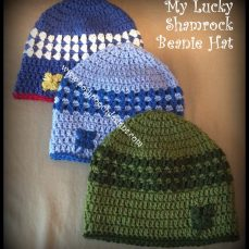 My Lucky Shamrock Beanie Pattern Tutorial