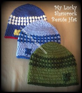 My Lucky Shamrock Beanie Pattern Tutorial