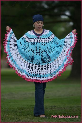 Pom Poms and Pineapple Poncho Video Tutorial