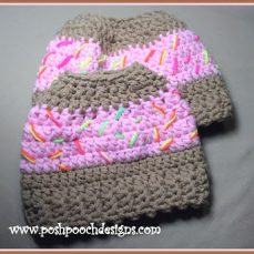 Sprinkle Donut Messy Bun Hat Pattern Tutorial