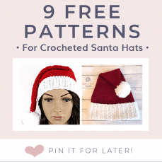 9 Free Crochet Santa Hat Patterns Free Crochet Tutorials Pattern Lookup