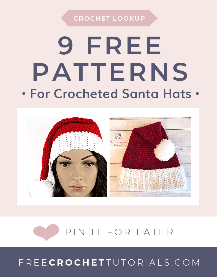 36c5a0a88 9 Free Crochet Santa Hat Patterns • Free Crochet Tutorials