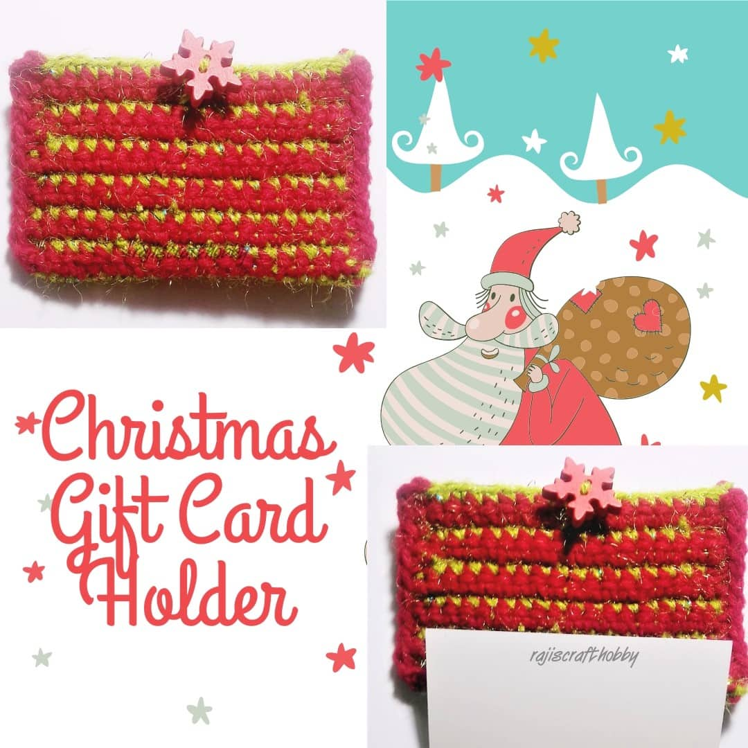 You will love how quickly these Gift Card holders work up. You can also use them as your Christmas tree ornament.