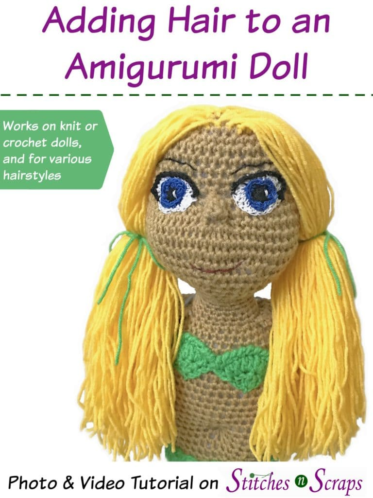 How to Add Hair to Amigurumi Dolls